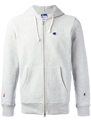 Champion Zipped Hoddy Grey