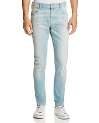 Scotch And Soda Skim Straight Fit Jeans In Light Blue