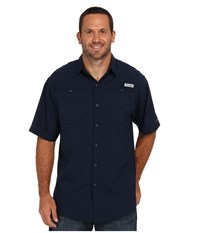 Columbia Tamiami Ii S S Tall Collegiate Navy Men's Short Sleeve Button Up