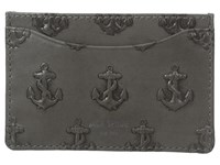 Jack Spade Embossed Anchor Credit Card Holder Grey Credit Card Wallet Gray