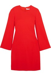 Givenchy Stretch Crepe Mini Dress Red