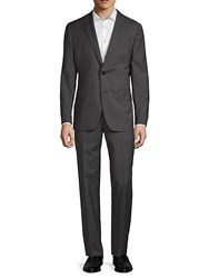 Eidos Classic Wool Suit Charcoal