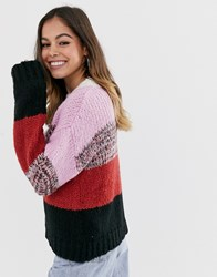Moon River Striped Lofty Yarn Jumper Multi