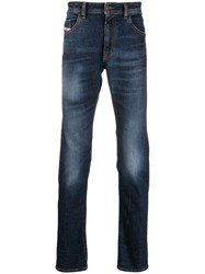 Diesel Faded Stonewashed Jeans Blue