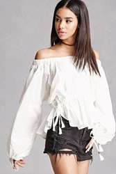 Forever 21 Off The Shoulder Peasant Top