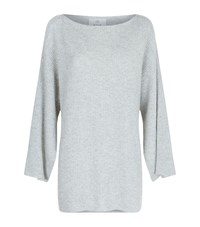 Allude Cashmere Tunic Sweater Female Grey