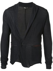 Kolor Knitted Light Blazer Nylon Wool Blue