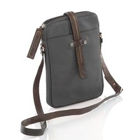 Gia Rodriguez Essentials Crossbody Charcoal Chocolate
