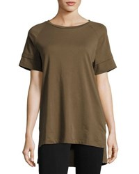 Publish Hers Liz Short Sleeve Knit Shirt Olive