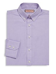 Thomas Pink Goldsmith Textured Button Down Dress Shirt Purple