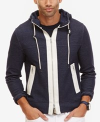 Nautica Men's Colorblocked Full Zip Hoodie Ocean Indigo Heather