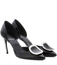 Roger Vivier Dorsay Sexy Choc Patent Leather Pumps Black