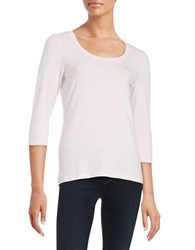 Lord And Taylor Scoopneck Cotton Stretch Top Sweetpea