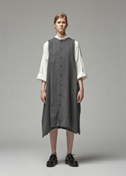 Yohji Yamamoto Asymmetrical Button Dress Charcoal