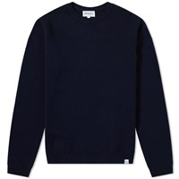 Norse Projects Sigfred Lambswool Crew Knit Blue