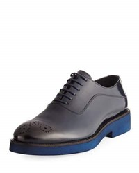 Jared Lang Rubber Sole Oxford Shoe Blue
