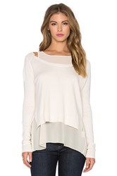 Charli Vanessa Twofer Sweater Cream