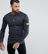 Brooklyn Supply Co. Co Long Sleeve T Shirt With Arm Band Bk1 Black 1