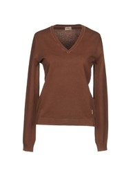 Murphy And Nye Sweaters Brick Red