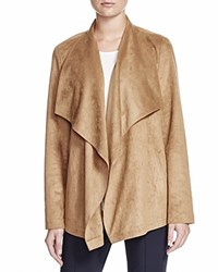Basler Faux Suede Draped Jacket Taupe