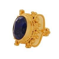 Carousel Jewels Intricate Lapis Cocktail Ring Blue