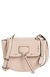 Sole Society Studded Faux Leather Crossbody Bag Pink Blush