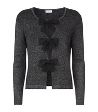 Claudie Pierlot Mignon Bow Cardigan Female Metallic