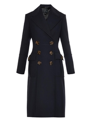 Burberry Military Double Breasted Wool Blend Coat