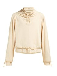 Christophe Lemaire Layered Cotton Jersey Sweatshirt Beige