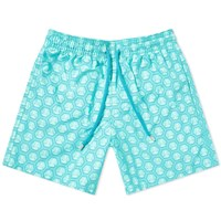 Vilebrequin Moorea Anchor Print Swim Short Blue