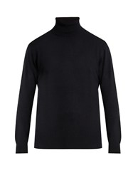 Raey Roll Neck Cashmere Sweater Navy