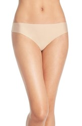 Women's Halogen 'No Show' Thong Beige Brush