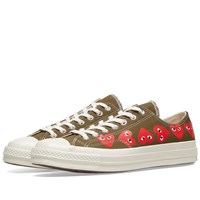 Comme Des Garcons Play X Converse Chuck Taylor Multi Heart 1970S Ox Green