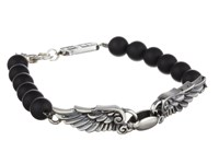 King Baby Studio 8Mm Onyx Bead Wingspan Bracelet Onyx Bracelet Black