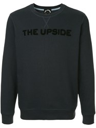 The Upside Logo Patch Sweatshirt Blue