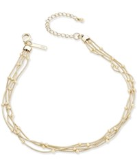 Inc International Concepts Bead Chain Choker Necklace Only At Macy's Gold