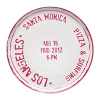 Bitossi Home Travel Pizza Plate Los Angeles