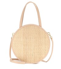 Kayu Carrie Straw And Leather Tote Neutrals