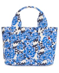 Tommy Hilfiger Natalie Painted Floral Shopper Tote Navy