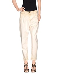 Met Denim Denim Trousers Women Beige