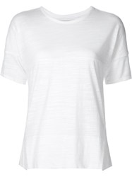 Shades Of Grey By Micah Cohen Slit Detail T Shirt White