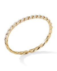 David Yurman Pave Flex 18K Gold And Diamond Bracelet