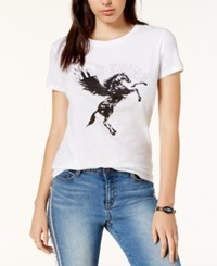 Chrldr Cotton Wild Thing Graphic T Shirt White
