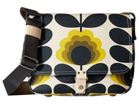 Orla Kiely Summer Flower Stem Small Satchel Sunshine Satchel Handbags Yellow