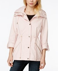 Guess Adjustable Waist Hooded Anorak Pastel Pink