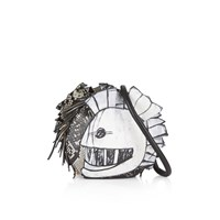 Burberry Pallas Helmet Leather And Snakeskin Shoulder Bag White