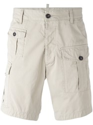 Dsquared2 Cargo Shorts Nude Neutrals