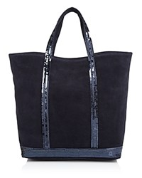 Vanessa Bruno Suede Sequin Tote Denim