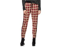 Dries Van Noten Checked Cotton Jogger Pants Red