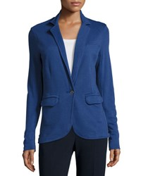 Grey State City Long Sleeve Cotton Blazer Blue Moon